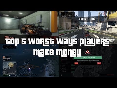 GTA Online Top 5 Worst Ways That Players Use To Make Money!