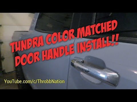 Tundra Color Matched Door Handle Install!!