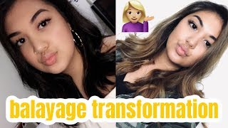DARK BROWN TO BLONDE BALAYAGE | VLOG