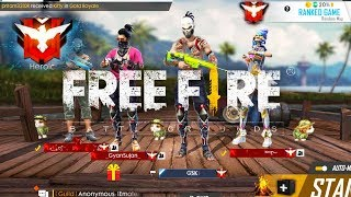 Free Fire live | Squad Ranked Game | Subscribe and join  [Hindi]