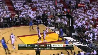 Russell Westbrook pulls a Rondo on Chris Bosh (June 17, 2012)
