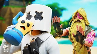 MARSHMELLO DRINKS PEELY?! *SEASON 9* (A Fortnite Short Film)