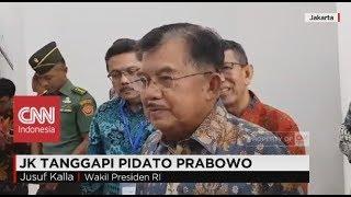 JK Tanggapi Pidato Prabowo