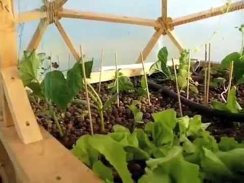 aquaponics build in geodesic dome greenhouse - Dome Greenhouse Designs