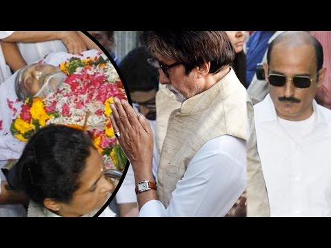 Amitabh Bachchan And Other Bollywood Celebs Attend Vinod Khanna's Funeral
