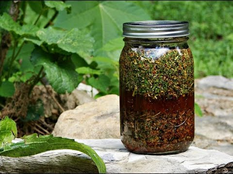 Easiest way to make an herbal tincture.  Raw vegan diet with herbs to heal the body.