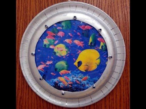DIY Paper Plate Porthole