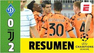 Dynamo Kyiv 0-2 Juventus DOBLETE de Álvaro Morata y GRAN partido de Juan Cuadrado | Champions League