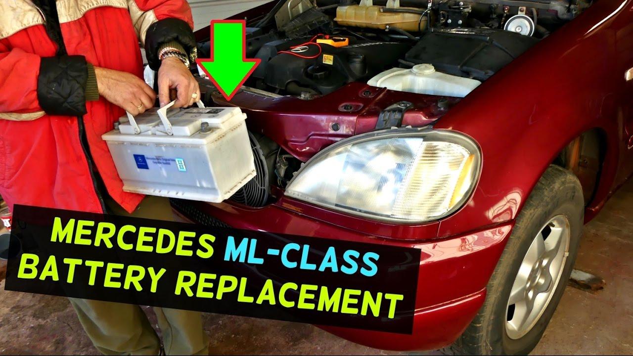 mercedes w163 battery replacement ml320 ml430 ml500 ml350 ml230 ml270 battery [ 1280 x 720 Pixel ]