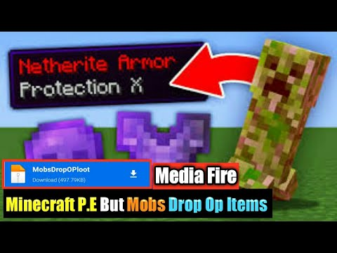 Minecraft P.E But Mobs Drop Op Items Mod for Minecraft Pocket Edition   Direct Link   Download
