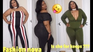 Fashion Nova Plus Size/Curvy Girl Try On Haul |MUST HAVE JUMPSUITS