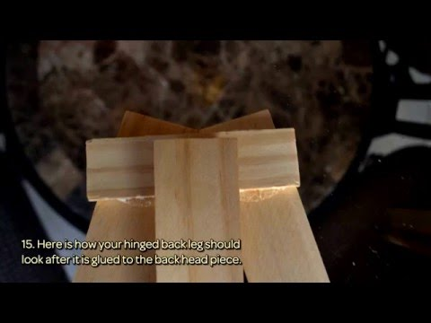 How To Build A Wood Tabletop Easel With Paint Stir Sticks - DIY  Tutorial - Guidecentral