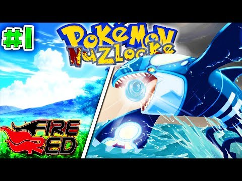 'OMG... KYOGRE IS MY STARTER!!' - Pokemon Fire Red Randomizer Nuzlocke Episode 1(Pokemon Nuzlocke 1)