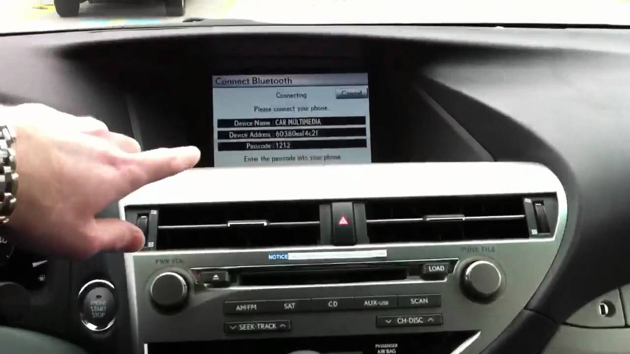 Lexus Rx 450H >> Bluetooth Connect iPhone with Lexus Navigation - YouTube