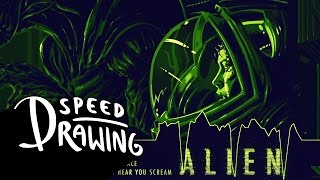 Speed Drawing: Alien