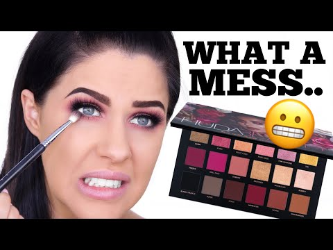 HUDA BEAUTY ROSE GOLD REMASTERED PALETTE  REVIEW
