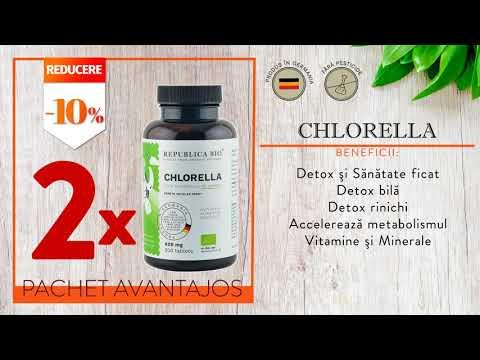 CHLORELLA BIO Complet, pachet promotional, cura completa pentru 100 de zile, BIO, RAW, VEGAN
