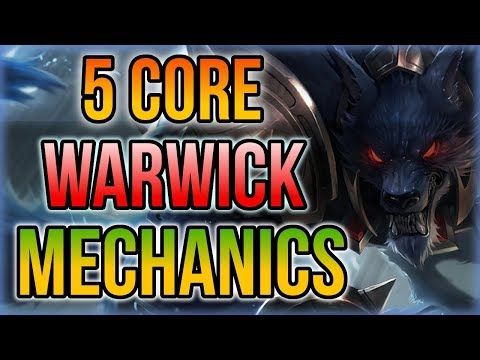 5 PRO Warwick Tips for Dummies - 5 Core Warwick Mechanics YOU SHOULD KNOW! - League of Legends