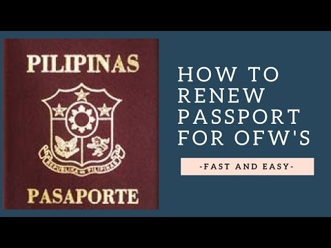 How to Renew Passport for OFW's - Fast & Easy