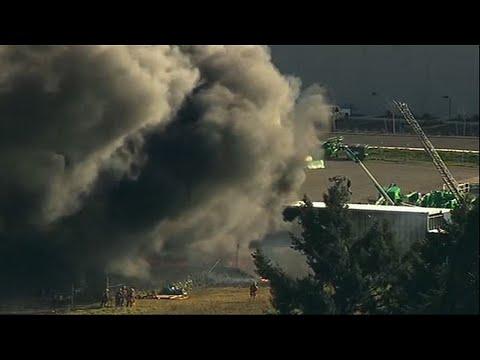 Crews Battle Scrap-Yard Fire in Portland, Ore.
