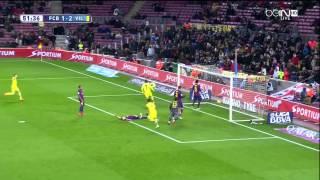 Barcelona - Villarreal Highlights HD 01.02.2015