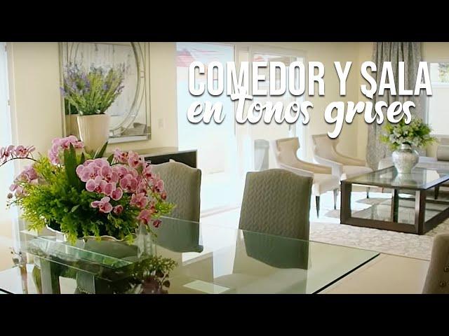 MAKEOVER: Comedor y sala en tonos de grises