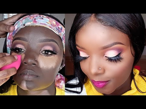 HOW TO DO A FULL FACE MAKEUP ON DARK SKIN// TUTORIAL