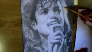Speed Drawing - Michael Jackson Portrait