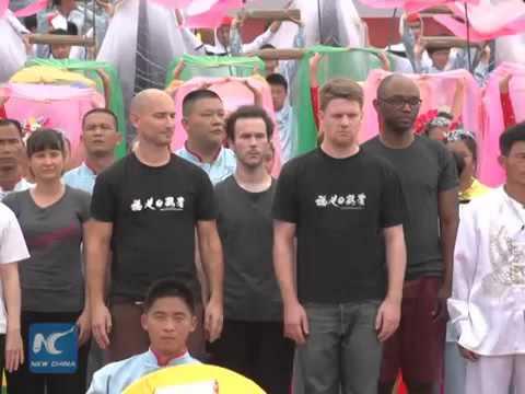 Biểu diễn Bạch Hạc Quyền quốc tế ở Trung Quốc