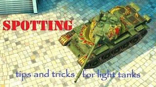World of Tanks Blitz - Spotting or TIP HOW TO PLAY LIGHT TANKS