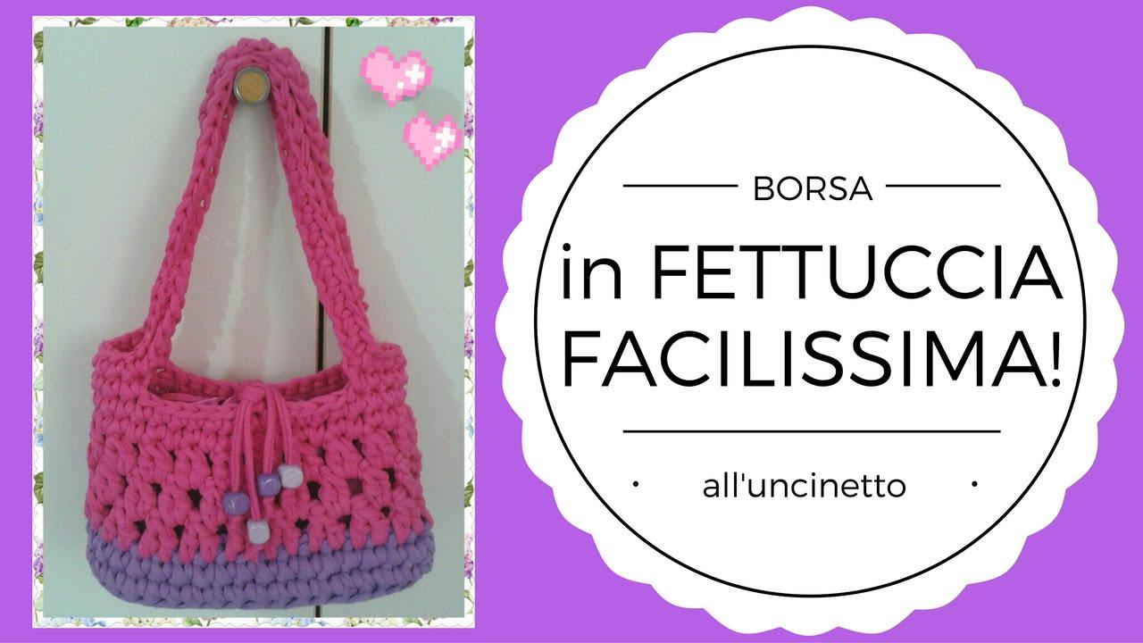 In A Borsa All'uncinetto Fettuccia Crochet Bag Facilissima Rwv0dqvX