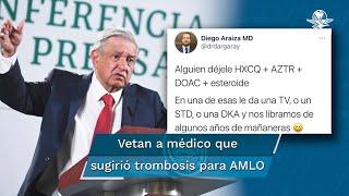 Sociedad Europea de Cardiología veta a médico que sugirió trombosis para AMLO