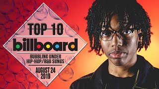 Top 10 • US Bubbling Under Hip-Hop/R&B Songs • August 24, 2019 | Billboard-Charts