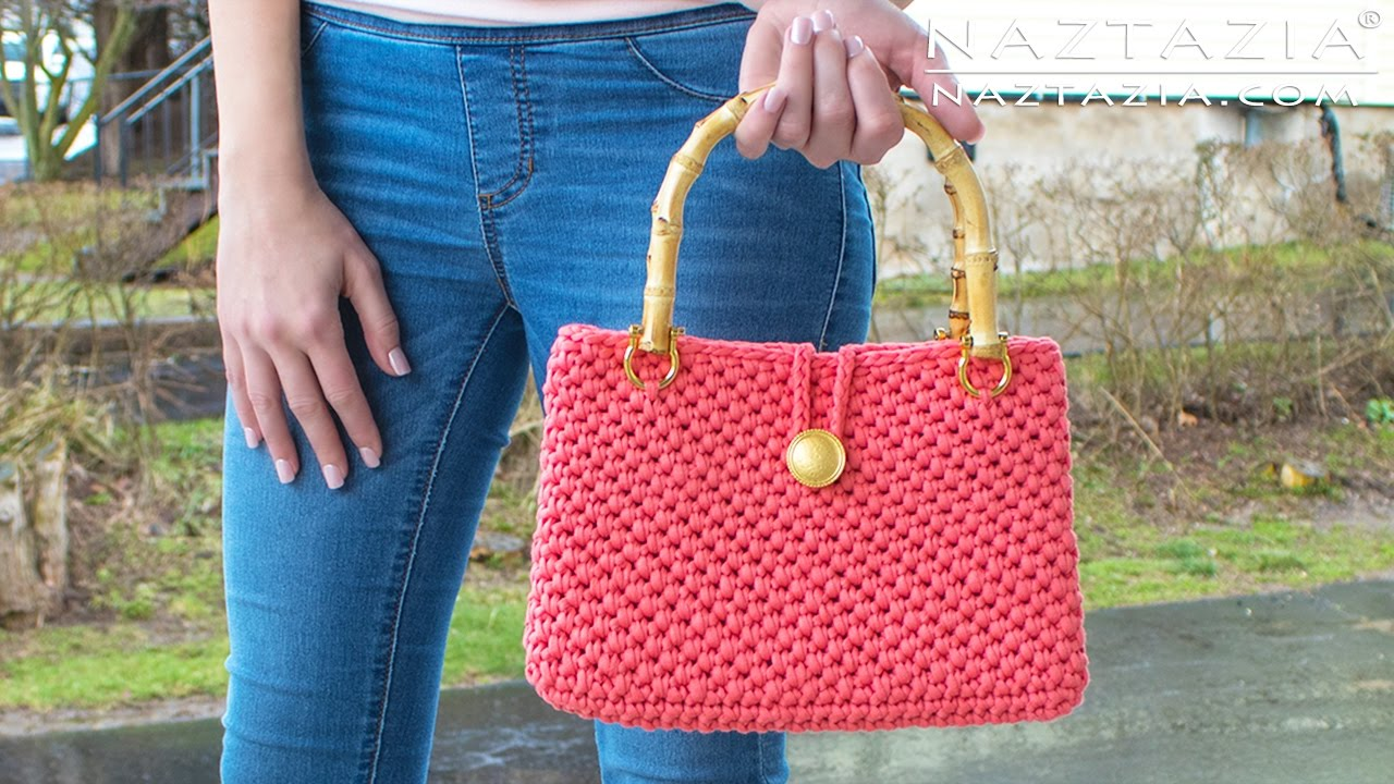 Crochet Jersey Purse Diy Tutorial For Handbag Easy T Shirt Yarn