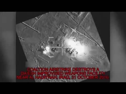 NATO: IRAQ 10-31-16. Massive Multi-Nation, 11+ Jets Flatten ISIL Weapons Facility!
