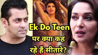 Bollywood Reacts on Jacqueline's Ek Do Teen Negative Remarks -Salman Khan, Madhuri Dixit, Saroj Khan