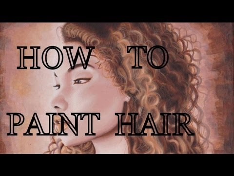 tips on painting curly hair  YouTube