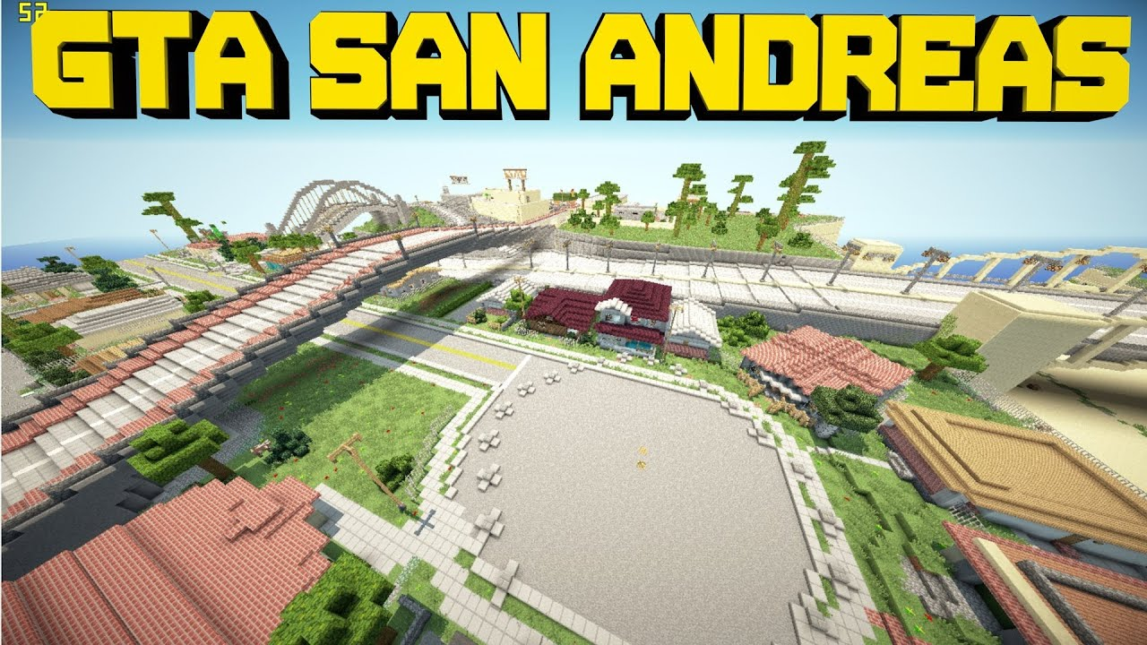 Minecraft PE Custom Map GTA San Andreas  DOWNLOAD  YouTube