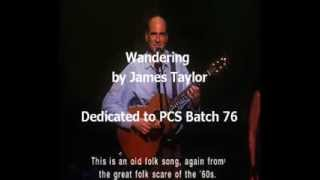 Wandering James Taylor Live
