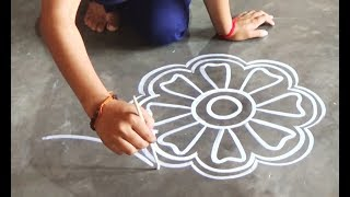 Step by Step creative innovative Designs for all my viewers/Easy Kolam designs