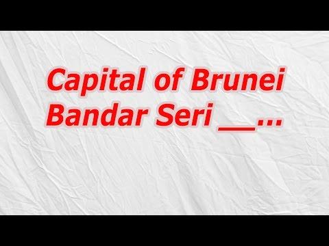 Capital of Brunei Bandar Seri (CodyCross Crossword Answer)