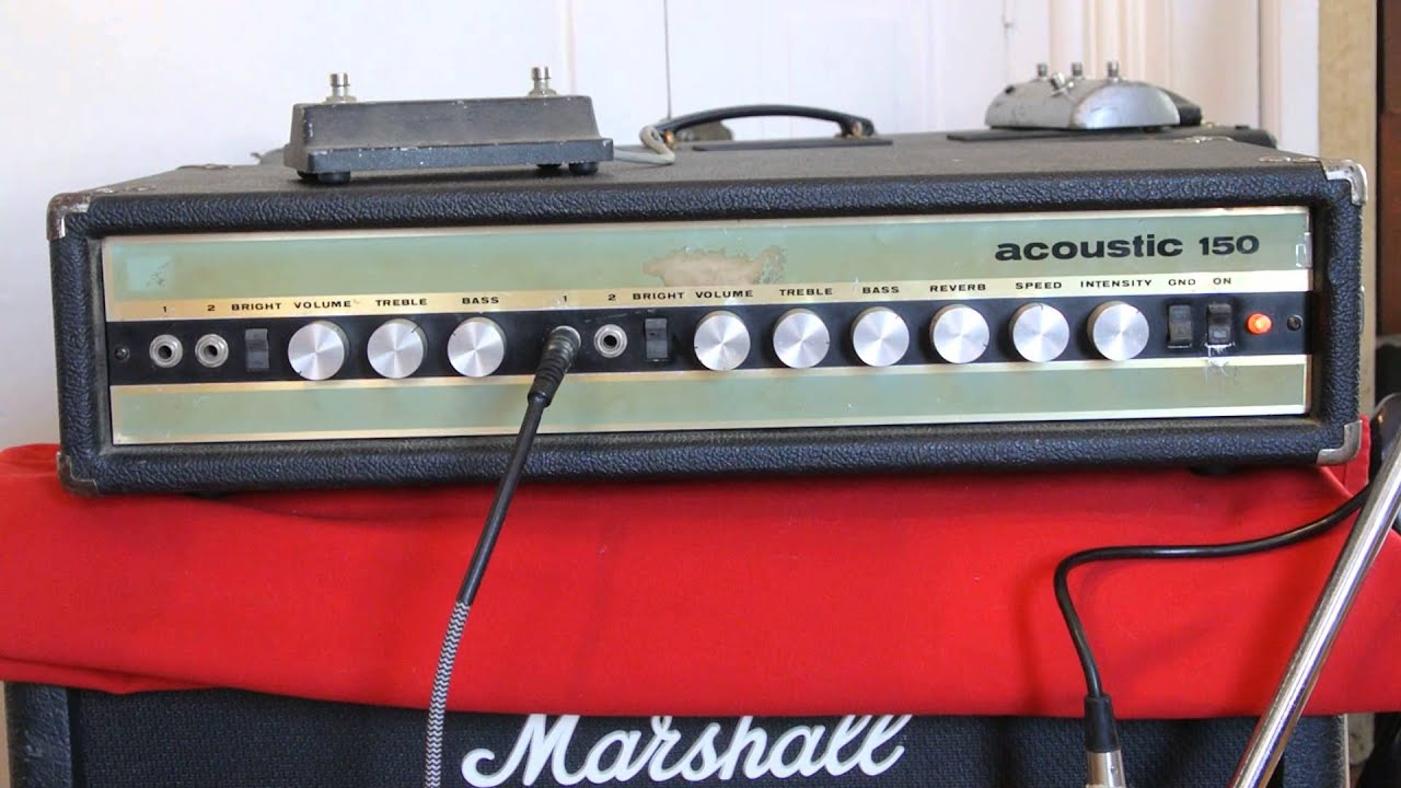 early 1970s acoustic research 150 amplifier head guitar bass amp youtube. Black Bedroom Furniture Sets. Home Design Ideas