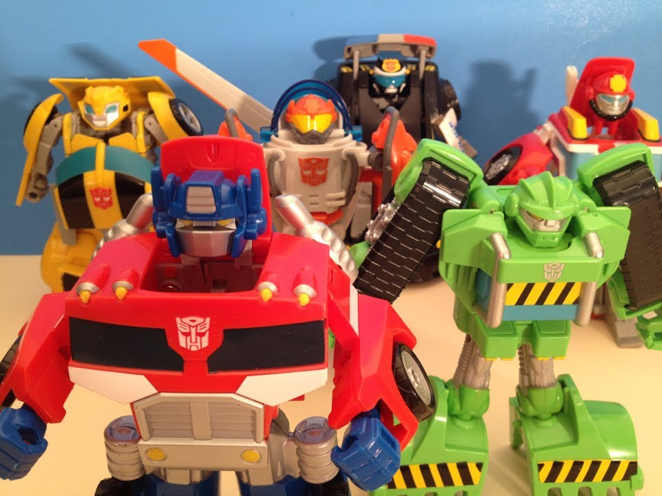 TRANSFORMERS RESCUE BOTS FULL COLLECTION - TOY REVIEW - YouTube