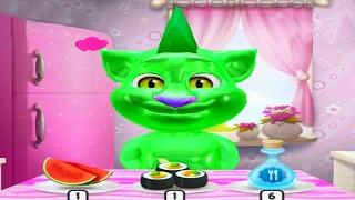 МОЙ ГОВОРЯЩИЙ ТОМ #23 - Мой виртуальный питомец - игровой мультик видео для детей  Том-желе