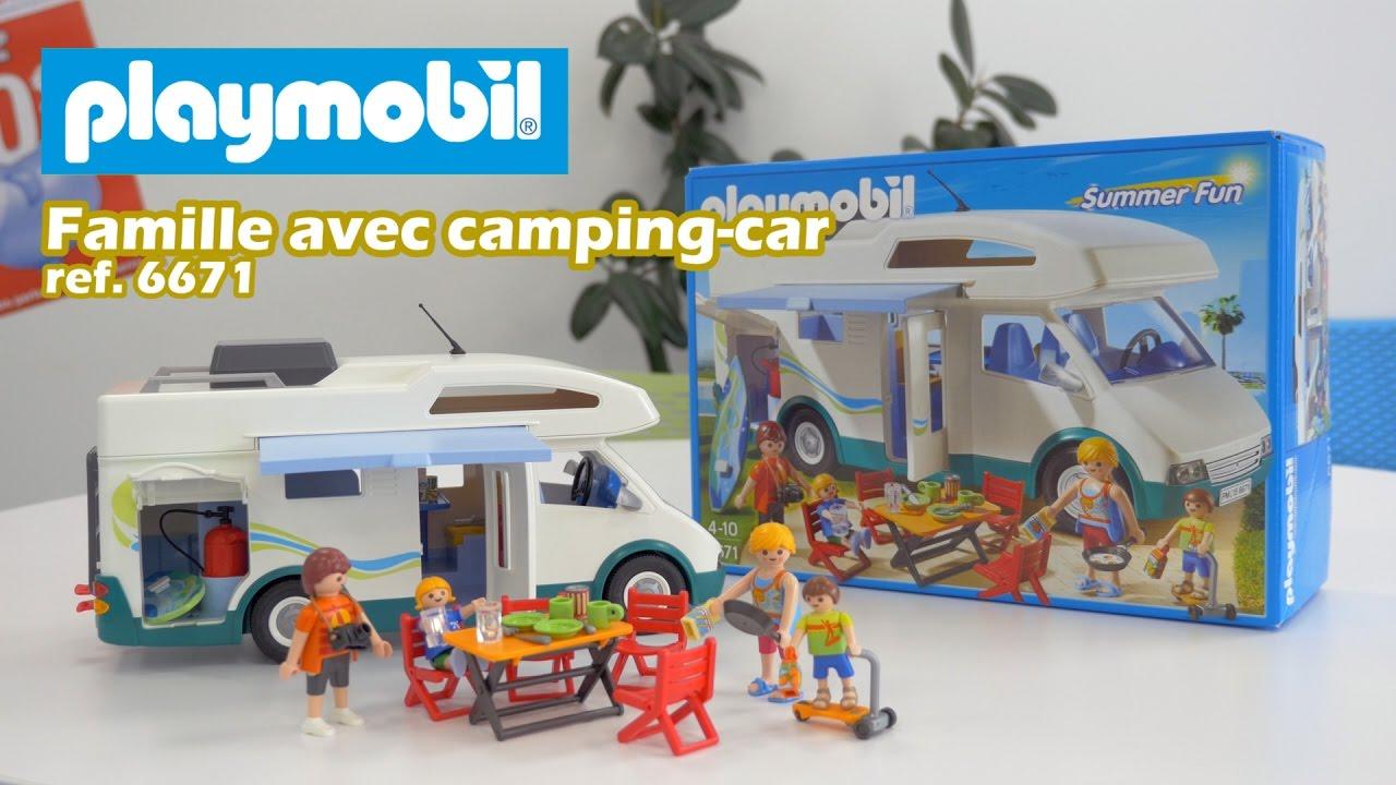Playmobil 6671 famille avec camping car summer fun - Camping car playmobil pas cher ...