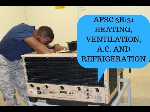 MY AFSC HVAC/R 3E131::TECH SCHOOL DETAILS #AIRFORCE #MILITARY