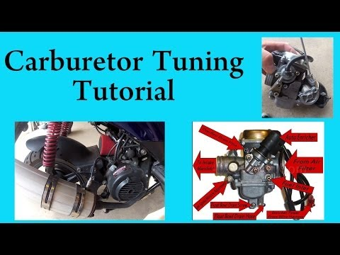 How to tune a carburetor in a GY6 chinese scooter 150 or 50 cc