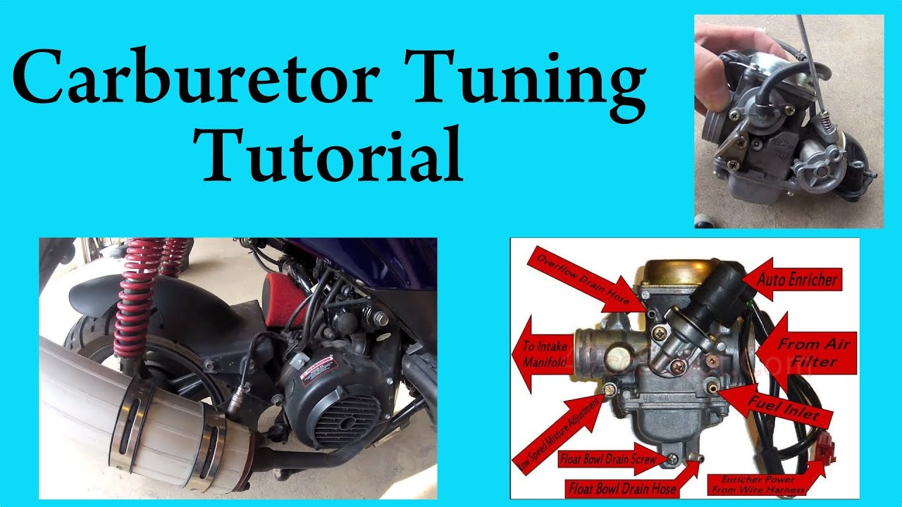 how to tune a carburetor in a gy6 chinese scooter 150 or 50 cc [ 1280 x 720 Pixel ]