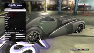 GTA 5: FULLY CUSTOMIZED Bugatti Type 57SC (Atlantic Truffade Z-Type) Los Santos Customs + Gameplay
