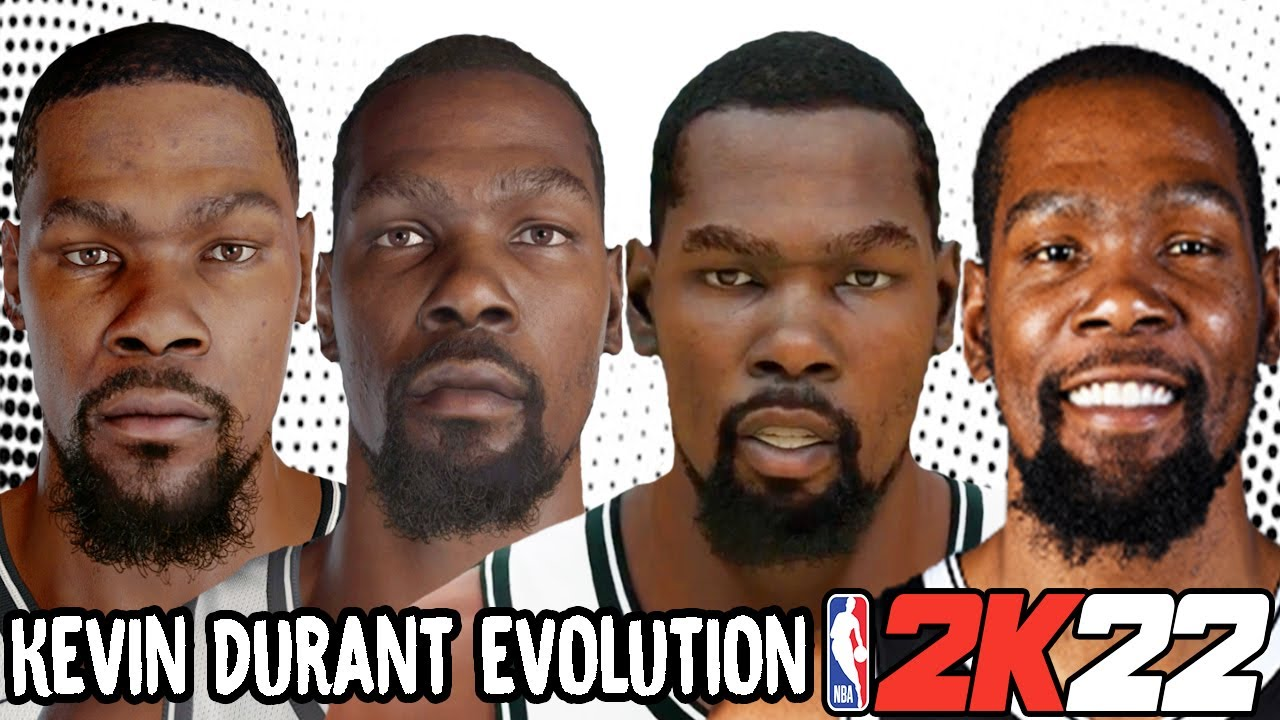 Kevin Durant Ratings and Face Evolution (College Hoops 2K7 - NBA 2K22)